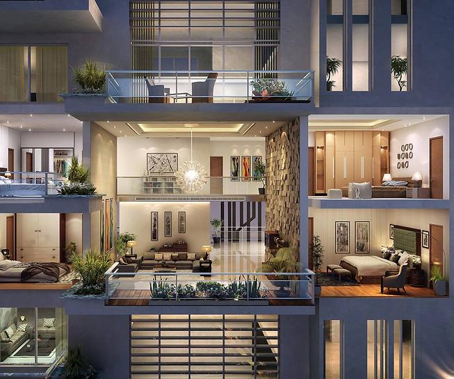 """38 עיצוב בניין מגורים בתמ""""א"""