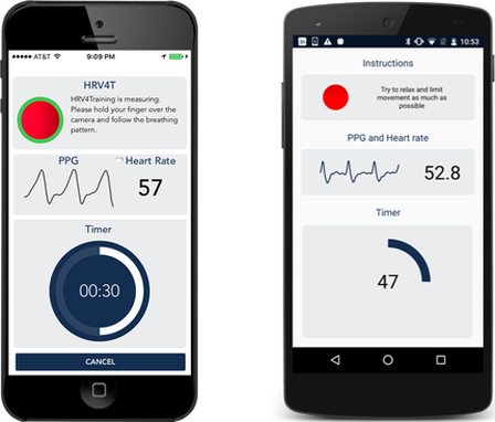 HRV4training screenshots