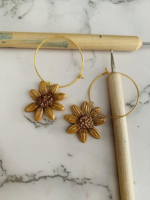 Sunflower | Hoop earring
