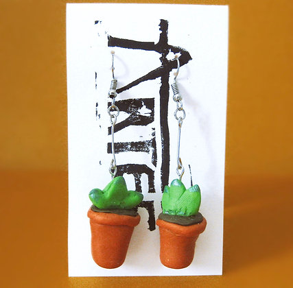 Plant Pot Dangle Earrings
