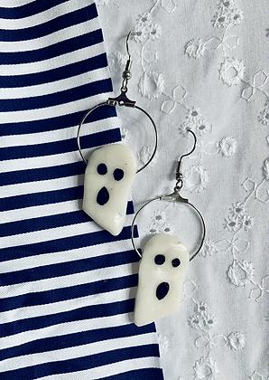 Ghost Hoop dangle earrings