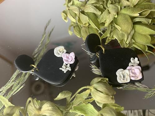 Black floral LILAH's