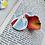 Thumbnail: Cane Cut Circle Stud Dangle Earrings|