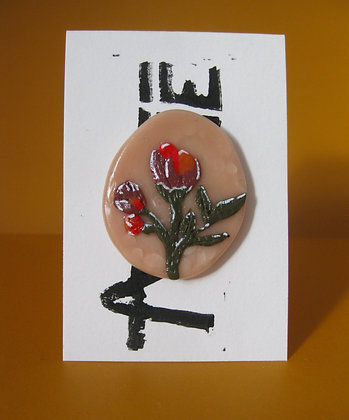 Floral Pin Badge/Brooch