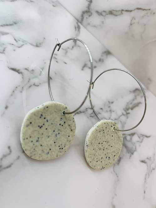 NATURAL STONE DROP HOOPS | Stone Collection