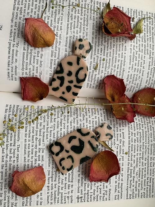 Cheetah Print Arches   Green & Pink