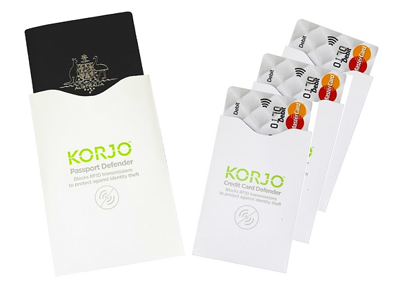 KORJO RFID Credit Card & Passport Defender