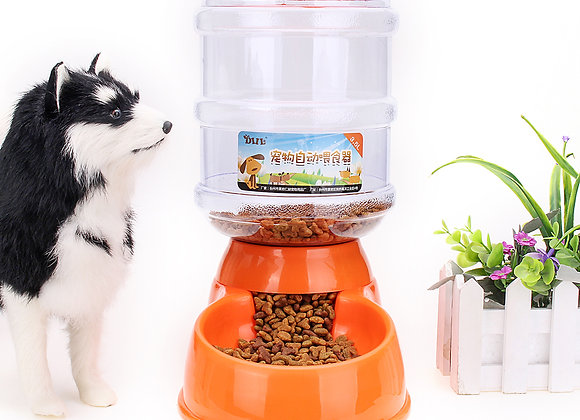 3.5L Gravity Food and Water Dispenser for Pets