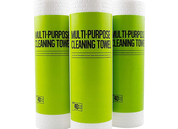 Multi-Purpose Cleaning Towel- 120 Sheets x3 Rolls