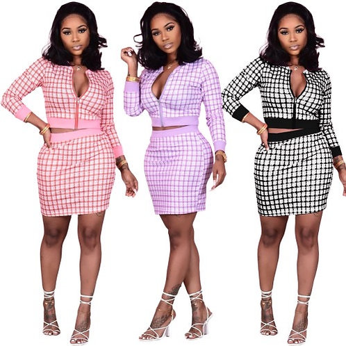 Printed Women Lovely Business Ladies Two Piece