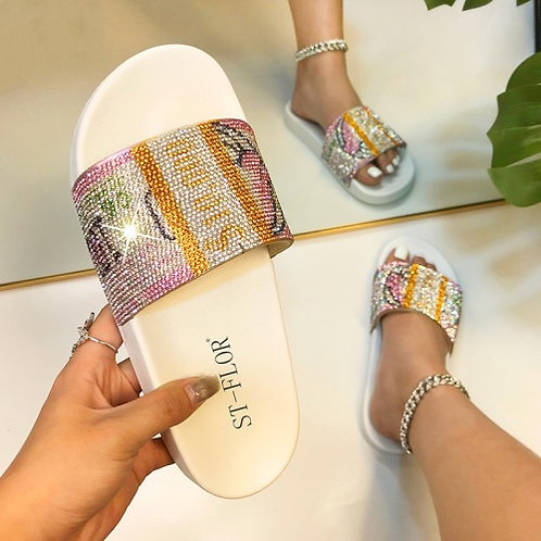 Dollars Printed Women Summer Sandals