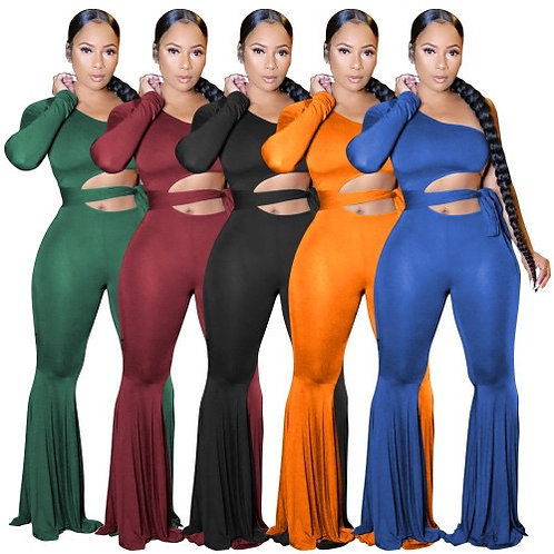 Solid Color Strappyy Jumpsuit