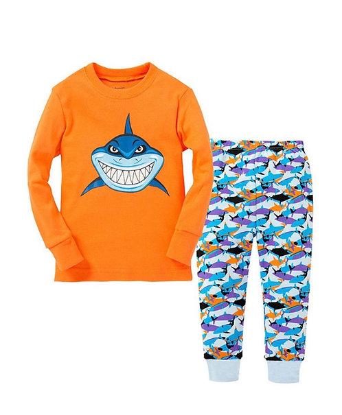 2 Pieces Kid Unisex Cartoon Pajamas set