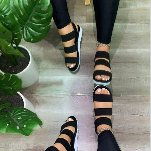 Lady Solid Color Fashion Shoes