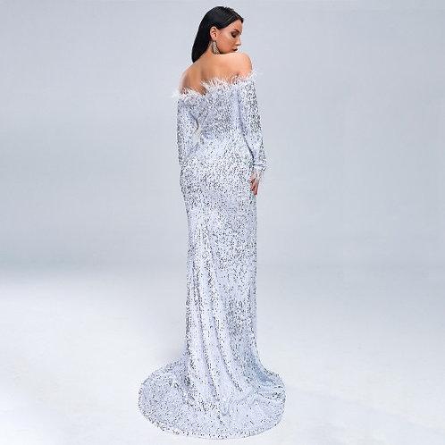 Off Shoulder Sequin Party Mermaid Dress