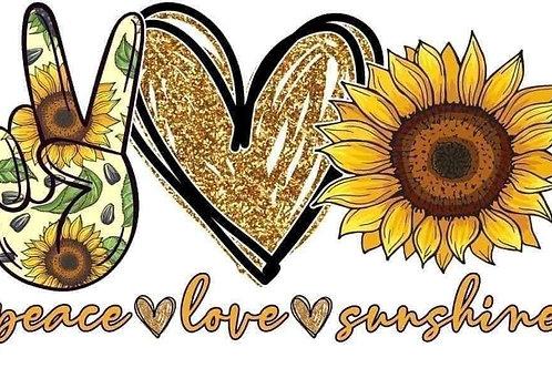 Peace love sunshine