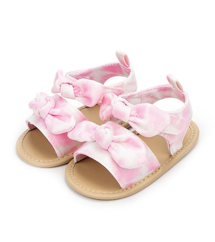 Baby Girl Tie Dye Bow Sandals