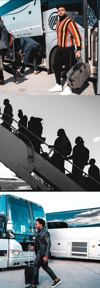 Created to showcase travel photos for a NYJ road game.