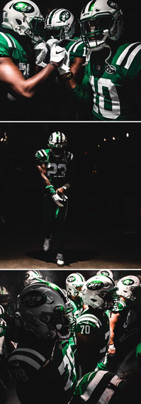 Created to showcase photos for a NYJ home game.
