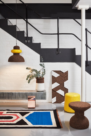 Wiid - Cork stools, pendant lights with