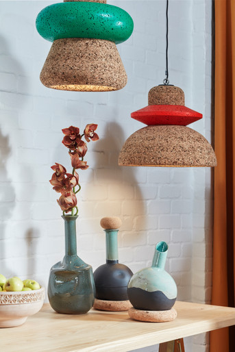 Wiid - Cork Pendants with objects.