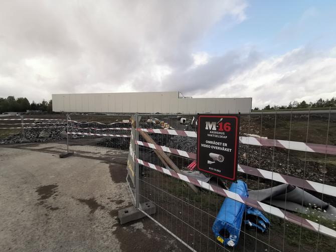 Hesselberg`s nye hovedkontor på Lindeberg under oppføring