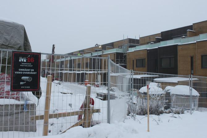 M16 Akershus vaktselskap fikk oppdraget med å sikre byggeprosjekt på Lørenskog