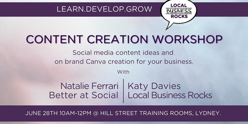 Social Media Content ideas + Canva graphic creation.