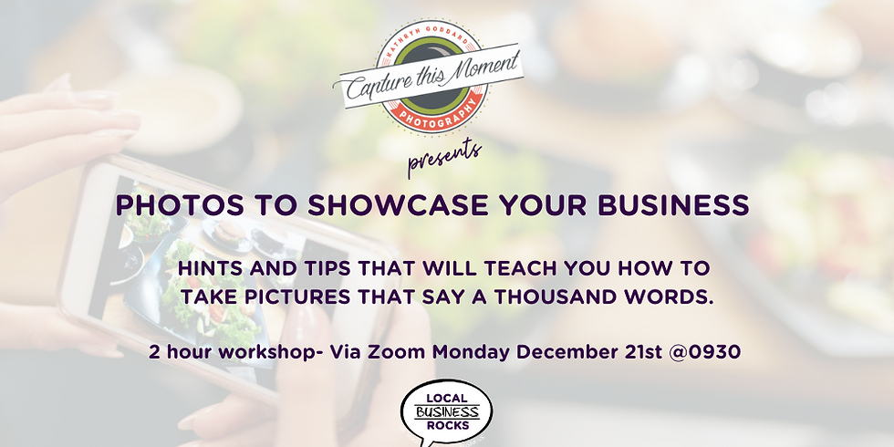 Taking photos to showcase your business