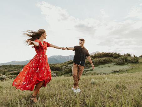 Utah Anniversary Golden Hour Session | Katie and James