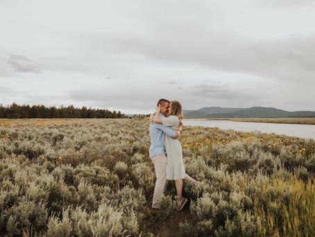 Idaho Mountain Engagement Session | Hope and Scott