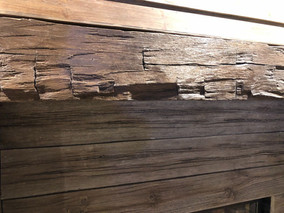 custom wood mantel for fireplace