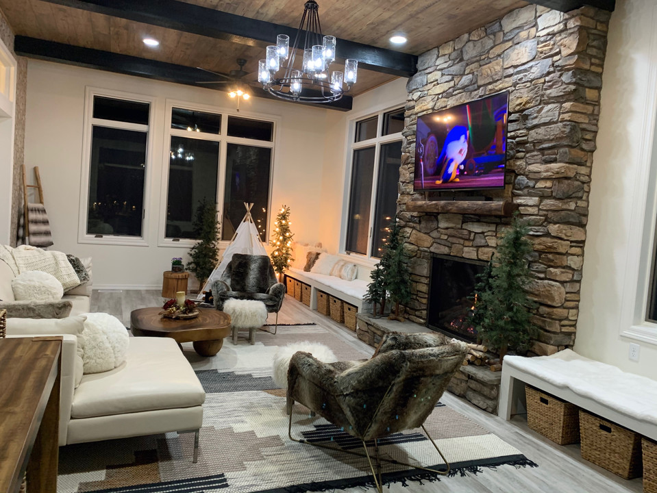 custom fireplace surround and install so