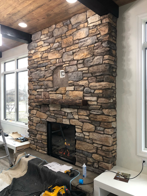 custom fireplace design install sioux fa
