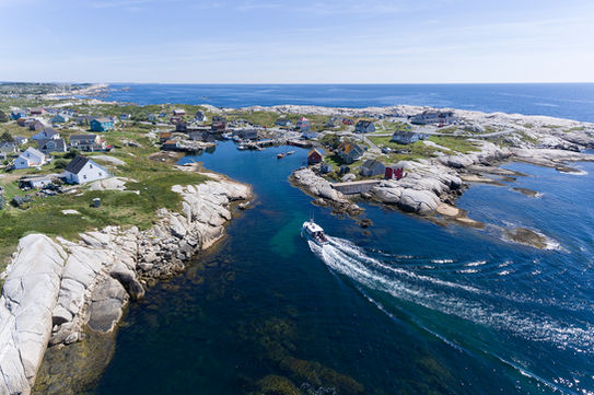 View of Peggy's Cove from the seaward side
