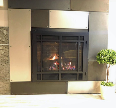 complete fireplace design sioux falls