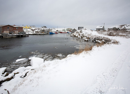 Winter Peggys Cove Village