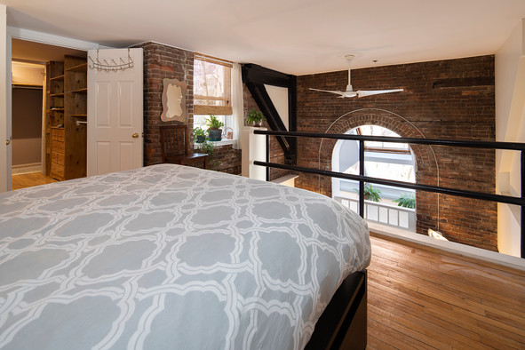 Interior photographs of a apartment in a converted church in Brunswick St, Halifax