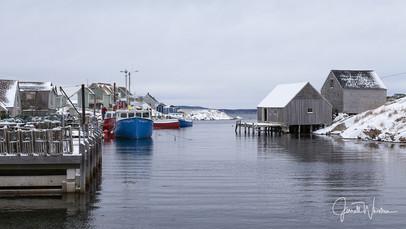 Winter Peggys Cove Village