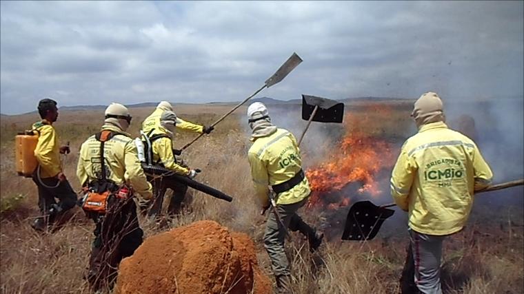Treinamento em utilização do soprador nos IF - Parque Nacional Serra da Canastra