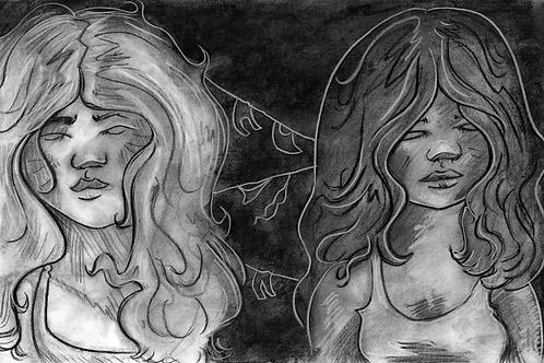 Sisters--ORIGINAL ART