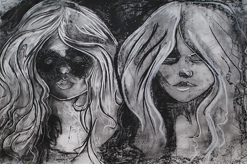 Two Blondes--ART PRINT