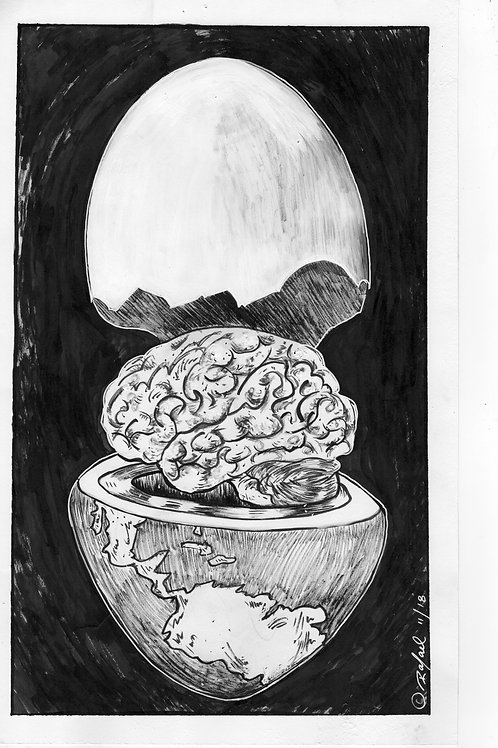 Brain Earth Series--ART PRINT
