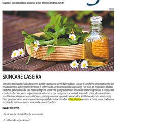 Estado de Minas apresenta receita de skincare caseira e natural da Bio Mundo