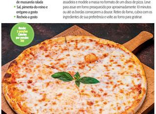 Revista AnaMaria mostra receita de pizza fit da Bio Mundo