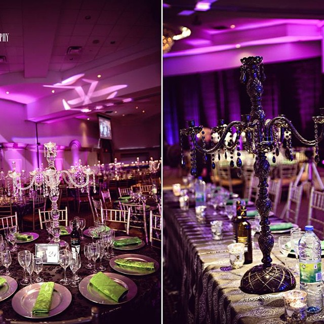 Extravagant wedding reception