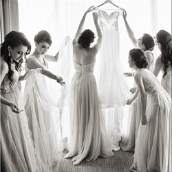 Sina's bridesmaids ready to doll her up for her big day. Elegant Concepts Event Planning had the ple
