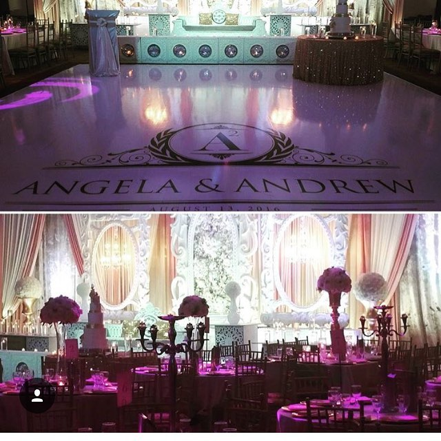 Glitz and Glamour! A stunning setup for our clients big day