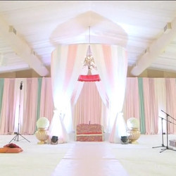 A gorgeous setup for a Sikh wedding _royalambassador for our clients. The blush colours were so pret