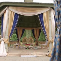Mandap setup for a Hindu wedding outdoors #weddingplanning #weddingdress #weddingphotography #weddin